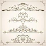 Utmärkta Calligraphic ramar II Royaltyfri Fotografi