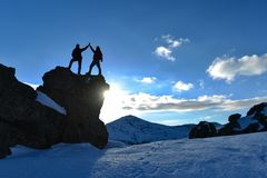 Utmana klättring, maximal framgång och livet av ursnygga klättrare fotografering för bildbyråer