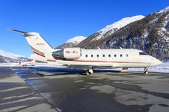 Utmanare 350 för Bombardier BD-100-1A10 Royaltyfri Foto