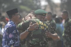 UTMANING FÖR SÄKERHET INDONESIEN FÖR MILITÄR ARMÉKRIGSMAKT NY Royaltyfri Bild