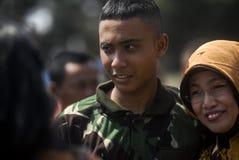 UTMANING FÖR SÄKERHET INDONESIEN FÖR MILITÄR ARMÉKRIGSMAKT NY Fotografering för Bildbyråer