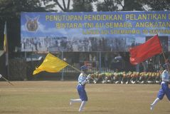 UTMANING FÖR SÄKERHET INDONESIEN FÖR MILITÄR ARMÉKRIGSMAKT NY Arkivbilder