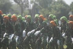 UTMANING FÖR SÄKERHET INDONESIEN FÖR MILITÄR ARMÉKRIGSMAKT NY Royaltyfri Fotografi