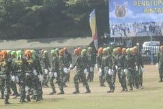 UTMANING FÖR SÄKERHET INDONESIEN FÖR MILITÄR ARMÉKRIGSMAKT NY Royaltyfria Foton