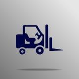 Utmatningsfack i efterbehandlarenladdarsymbol Stock Illustrationer