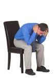 utmattad man för affär Royaltyfri Foto