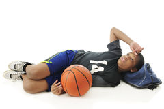 Utmattad ung idrottsman nen Arkivfoton