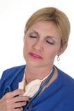 utmattad varm sjuksköterska för 6 doktor Royaltyfri Foto