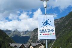 UTMB-Banner stock afbeelding