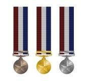 utmärkelsemedaljer Arkivbilder
