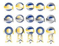 utmärkelsen förser med märke banermedaljer Royaltyfri Foto