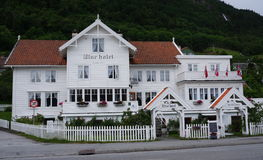 Utne Hotel in Norway. The Utne hotel (in the village with the same name) in Norway is the oldest Norwegian hotel that is still in operation stock photography