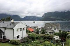 Utne - Norway. Utne marrine and the ferry stock images