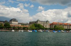 Uto-Quai seen from Zurich see port Stock Photos