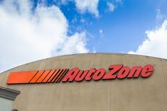 Uto Zone car parts store Stock Image