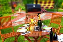 Utomhus- äta middag plats arkivfoton