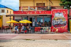 Utomhus- äta middag St Maarten Royaltyfria Bilder