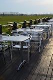 Utomhus äta område. royaltyfri fotografi