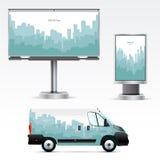 Utomhus- advertizing för mall eller företags identitet Arkivbild