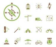Utomhus- aktiviteter - Iconset - symboler royaltyfri illustrationer