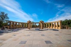 Utomhus- arkitektur i stad parkerar Royaltyfria Bilder