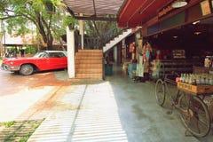 Utomhus- av det Baan Bangkhen museet royaltyfri foto