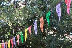 utomhus- banderoller för händelse Arkivfoto