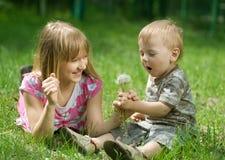 utomhus- barn Royaltyfria Bilder