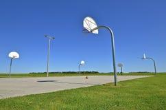 utomhus- basketdomstol Arkivfoto