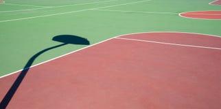 Utomhus- basketlekplats Royaltyfria Foton