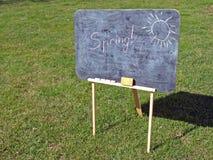 utomhus- blackboard Royaltyfri Bild