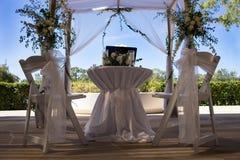 Utomhus- borgerlig bröllopaktivering Royaltyfri Bild
