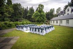 utomhus- bröllop Royaltyfri Bild