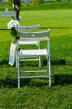 utomhus- bröllop för garneringblomma royaltyfri bild