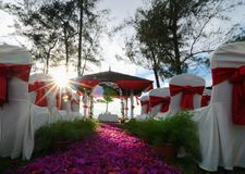 Utomhus- bröllopaktivering Royaltyfri Fotografi