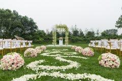 Utomhus- bröllopplats arkivfoton