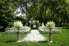 Utomhus- bröllopplats Royaltyfria Bilder