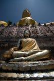 utomhus- buddha kopplar samman Royaltyfri Fotografi