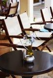utomhus- cafe Arkivfoto