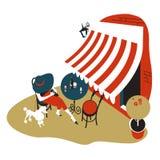 utomhus- cafe royaltyfri illustrationer