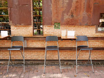 utomhus- cafe arkivbilder