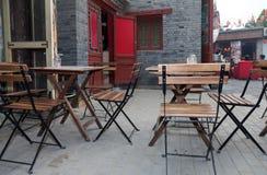 utomhus- cafefritid Royaltyfria Bilder