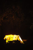 Utomhus- campa Arkivfoton