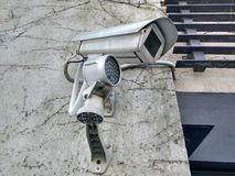 Utomhus- CCTV-kamerasurveilance arkivfoton