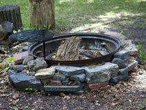 utomhus- cirkel för brand Arkivbild
