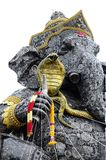 Utomhus- detalj av att sitta Ganesha, stål Royaltyfria Foton