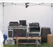 Utomhus- diskjockey Announcer Gear Royaltyfri Bild
