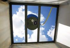 utomhus- dusch Fotografering för Bildbyråer
