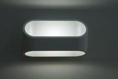 Utomhus- elektrisk lampa Arkivbilder