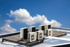 Utomhus- enhet för luftvillkor Arkivbild